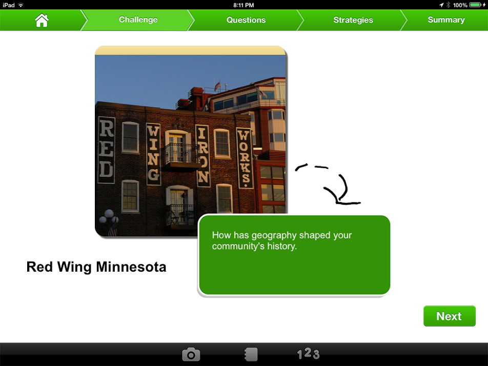 Exploring Red Wing Minnesota with the Field Day PBL app
