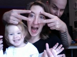 Dr. Jenny Fremlin, Kevin Fremlin and daughter